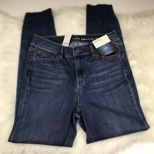 NY &Co Super Skinny Stretch Button Accent Jeans 8